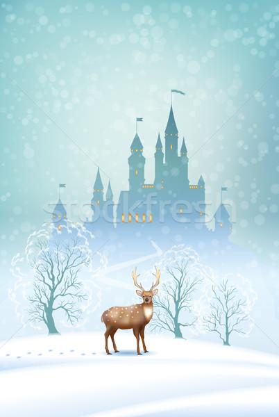 Christmas Landscape Winter Castle Stock photo © kostins