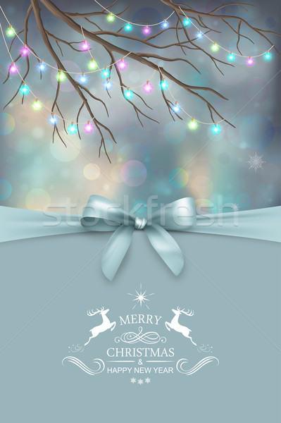 Vector Christmas and New Year greeting card Stock photo © kostins
