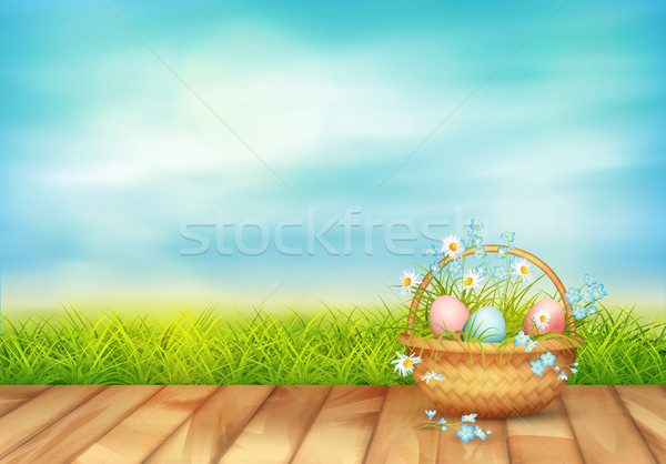 Vector Easter Basket Stock photo © kostins