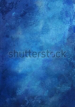 Dijital boyalı suluboya karanlık mavi artistik Stok fotoğraf © kostins