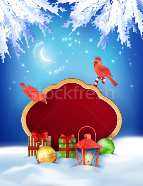 Christmas Winter Night Background Stock photo © kostins