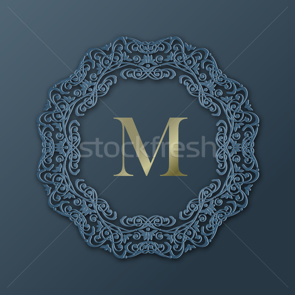 Quadro monograma projeto vetor 3D Foto stock © kostins