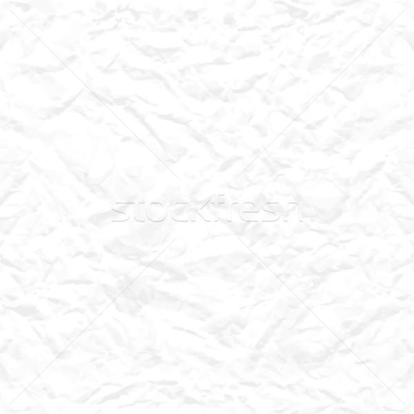 Seamless white crumpled paper texture Stock photo © kostins