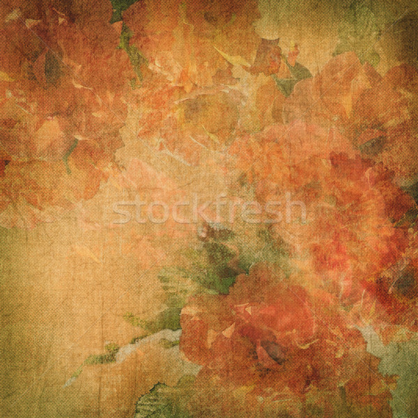 Vintage background with flowers (roses) Stock photo © kostins