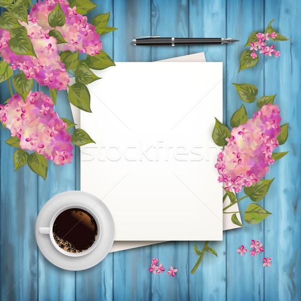 Сток-фото: весны · Top · мнение · вектора · чистый · лист · бумаги · лист