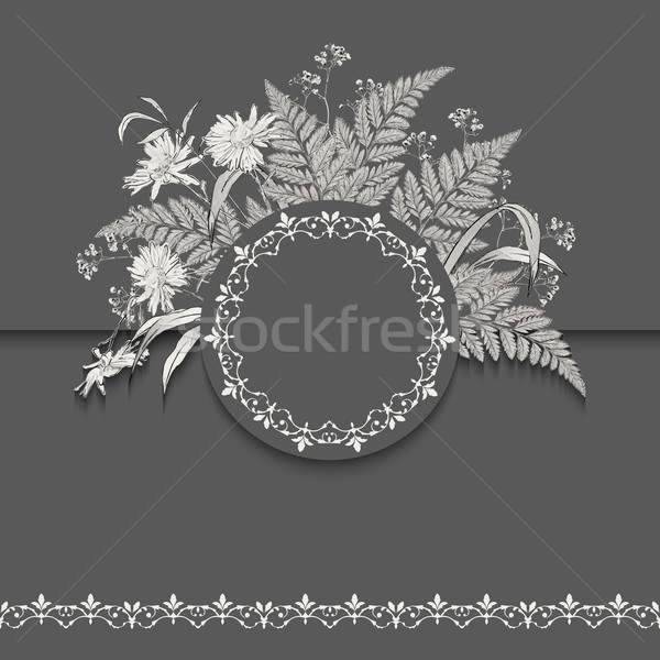 Vector Floral Romantic Card Stock photo © kostins