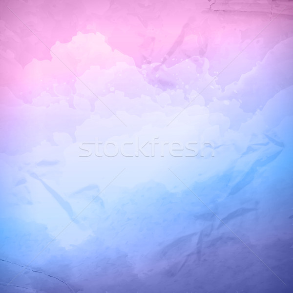 Watercolor vector cloudy sky background Stock photo © kostins