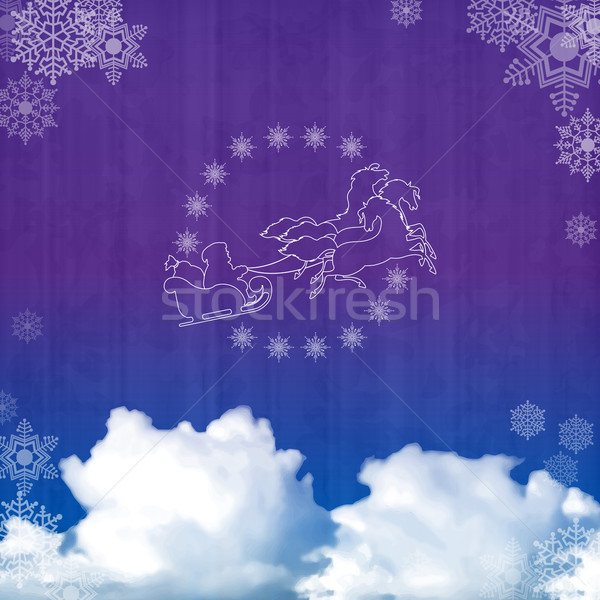 Background with Santa's sleigh Stock photo © kostins