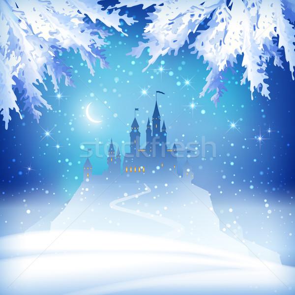 Christmas Winter Castle Stock photo © kostins