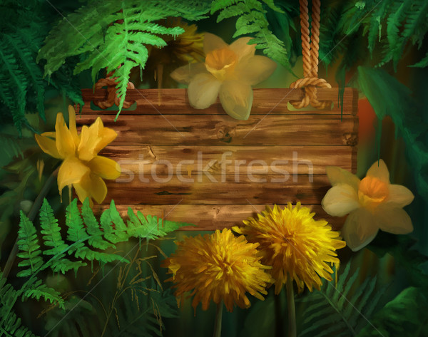 Watercolor Painting Flowers Stock photo © kostins