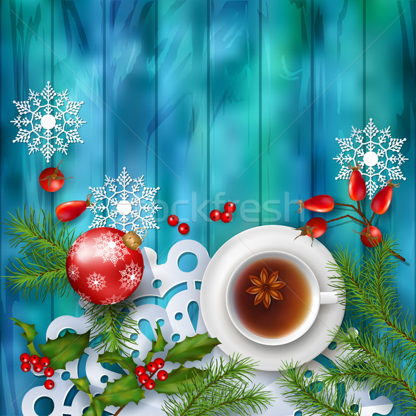Christmas Tea Party Background Stock photo © kostins