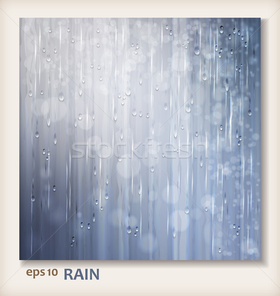 Grey shiny rain. Abstract water background design Stock photo © kostins