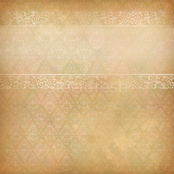 Vintage abstract retro kant banner vector Stockfoto © kostins