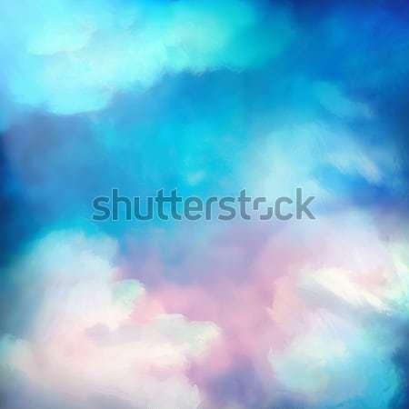 Suluboya gökyüzü boyama vektör dramatik dijital Stok fotoğraf © kostins