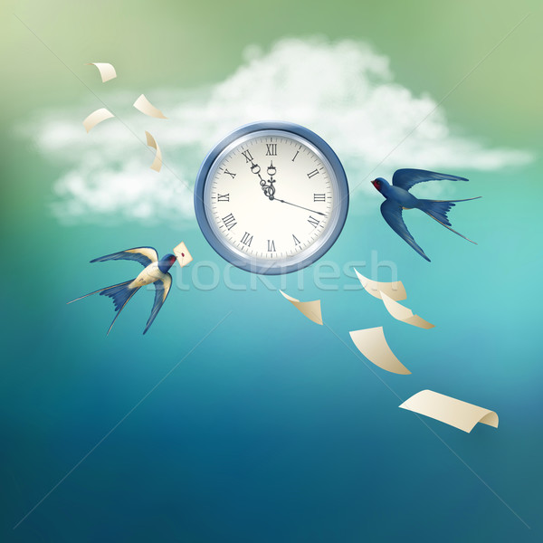 Time Abstract Vector Concept Design Stock photo © kostins
