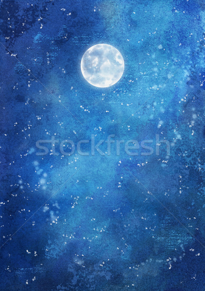Watercolor Night Background Stock photo © kostins