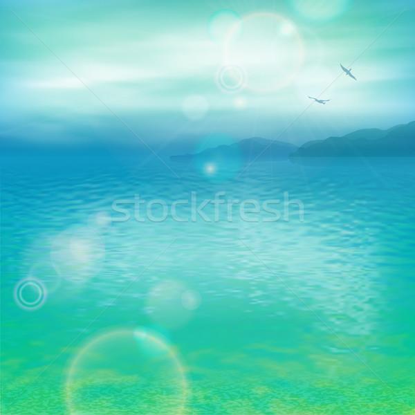 Mare vettore marine panorama acqua Foto d'archivio © kostins