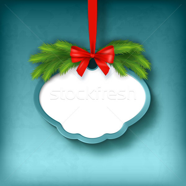 Vector Christmas Greeting Frame Card Stock photo © kostins