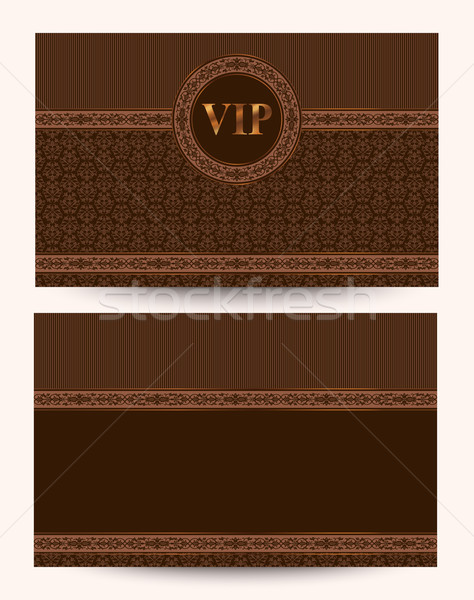 Vector Luxury VIP Business Card Stock photo © kostins
