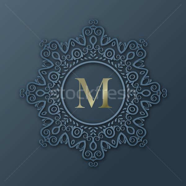 Frame Monogram Design Stock photo © kostins
