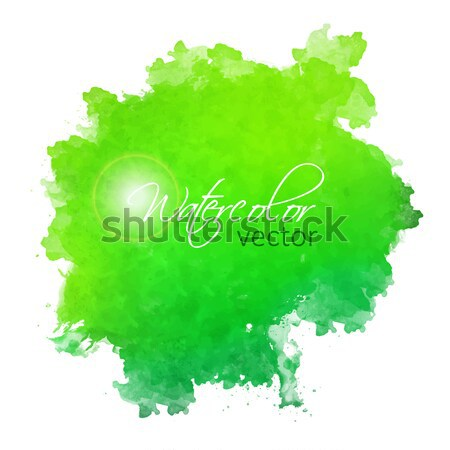 Abstract aquarel plek geschilderd vector hand Stockfoto © kostins