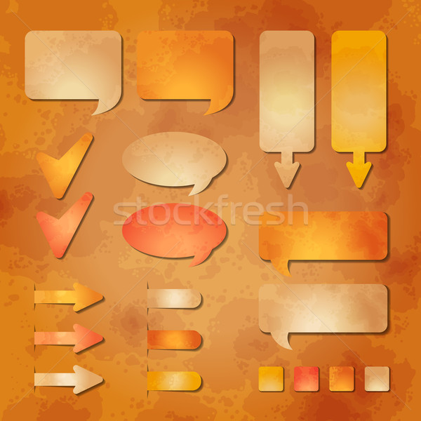 Set vettore web design elementi carta Foto d'archivio © kostins