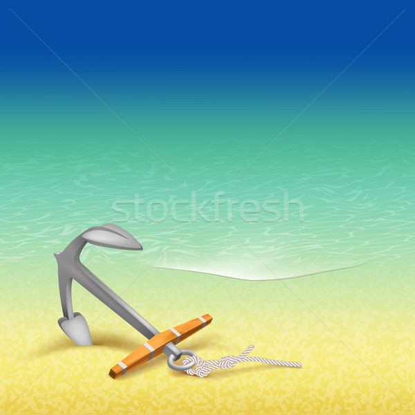 Nautical Summer Travel Poster Design Stock photo © kostins