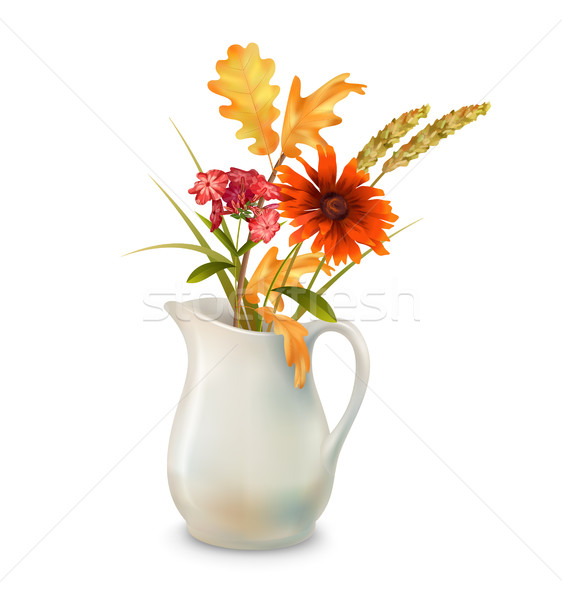 Autumn Flowers in Jug Stock photo © kostins