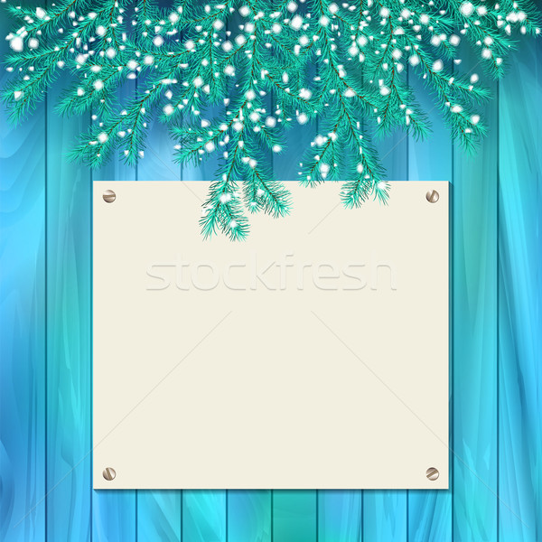 Vector Signboard Christmas Card Stock photo © kostins