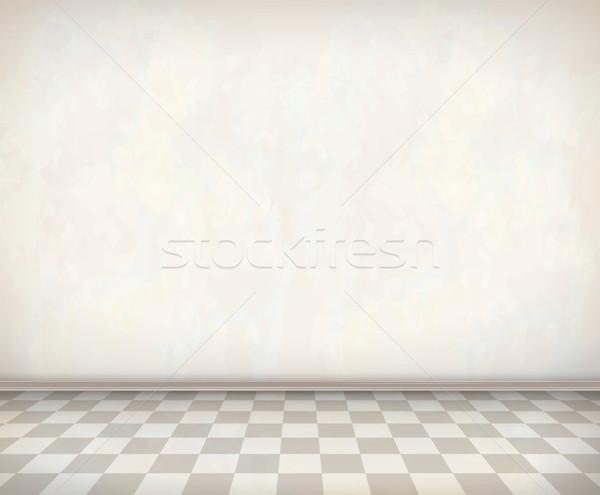 üres szoba fehér fal csempe padló klasszikus Stock fotó © kostins