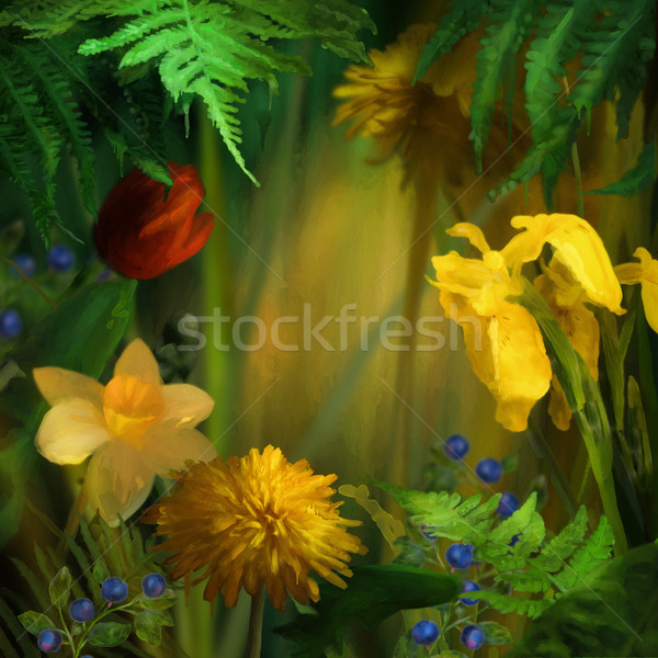 Watercolor Painting Summer Stock photo © kostins