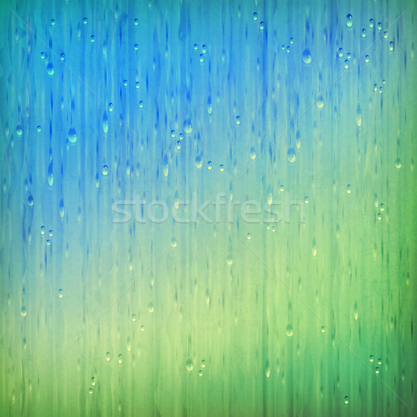 Colorful rain abstract grange rainy landscape Stock photo © kostins