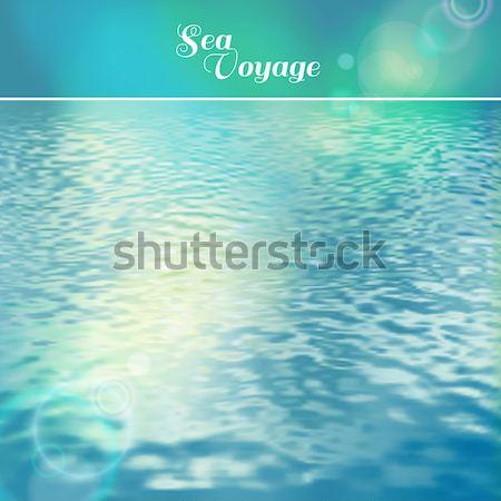 Deniz vektör deniz manzara gökyüzü Stok fotoğraf © kostins