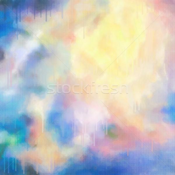 Acquerello abstract vernice gocce colorato pioggia Foto d'archivio © kostins
