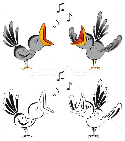 śpiewu funny piosenka zabawy czarny dźwięku Zdjęcia stock © kostins
