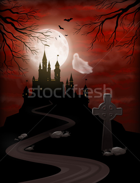 Halloween Party Invitation Stock photo © kostins