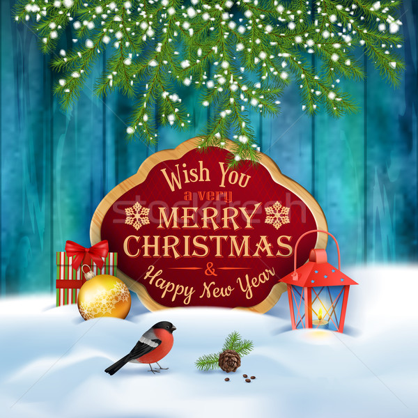 Vector Christmas Greeting Card Stock photo © kostins