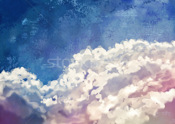Sky Painting Background Stock photo © kostins
