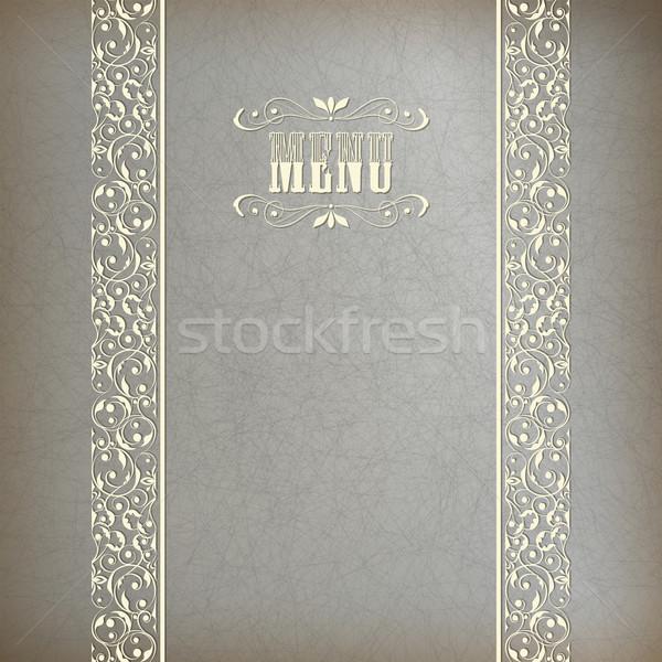 Vintage streszczenie retro koronki banner wektora Zdjęcia stock © kostins