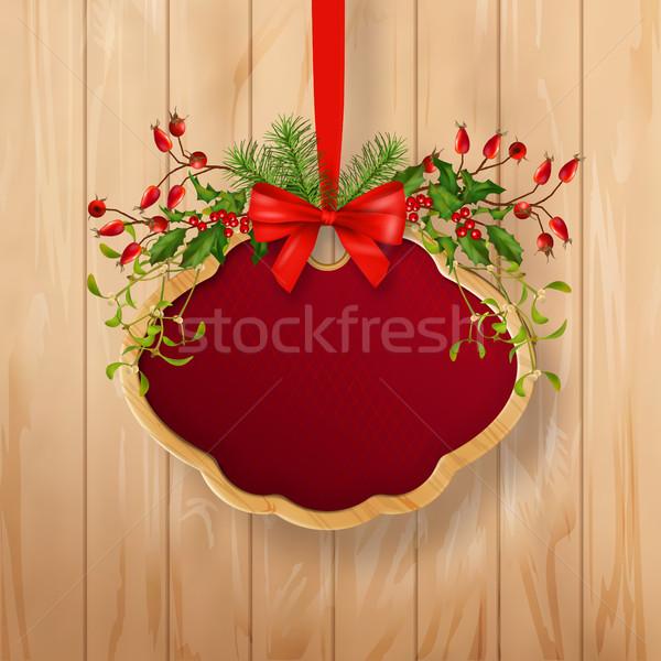 Vector Christmas Sign Board Stock photo © kostins