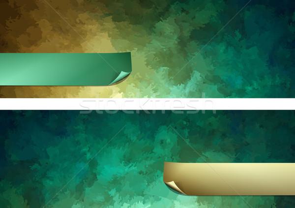 Abstrato pintura vetor escuro verde digital Foto stock © kostins