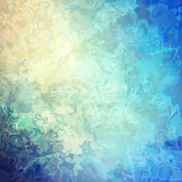 Fantasy streszczenie wektora cyfrowe akwarela malarstwo Zdjęcia stock © kostins
