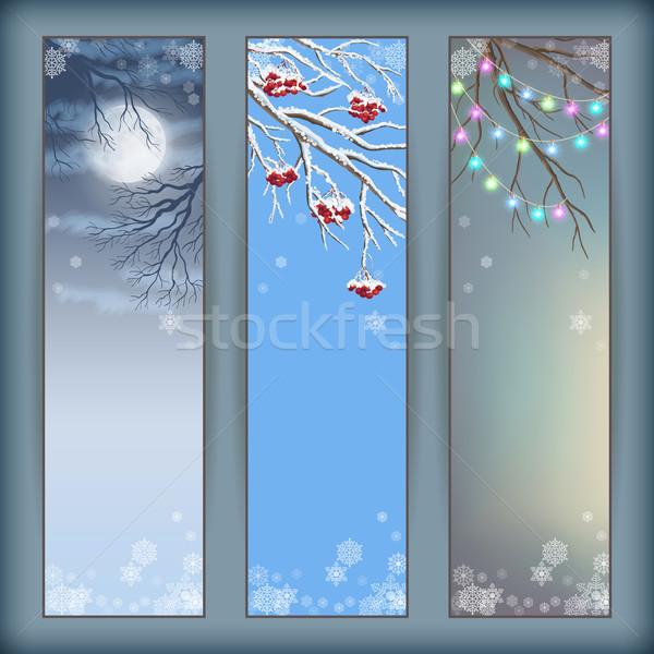 Christmas Vector Banners Stock photo © kostins