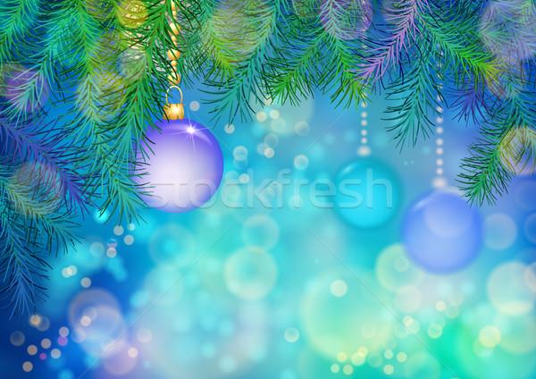 Vektör Noel soyut renkli yılbaşı noel ağacı Stok fotoğraf © kostins