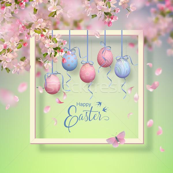 Easter Vector Frame Stock photo © kostins