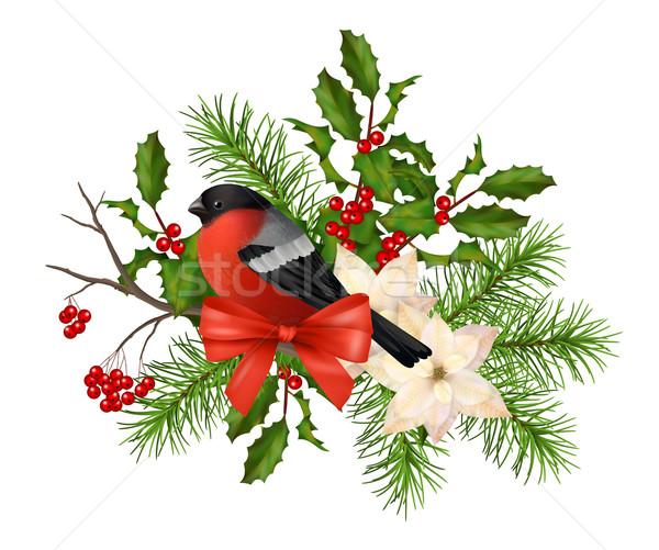 Christmas vector decorative composition Stock photo © kostins
