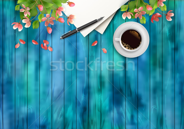 Spring Top View Background  Stock photo © kostins