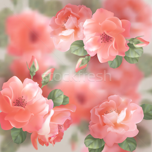 Romantic floral background Stock photo © kostins