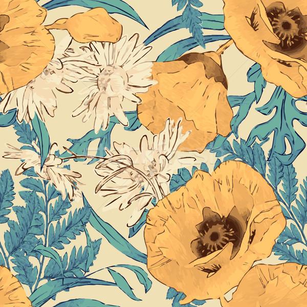Flowers Seamless Pattern Stock photo © kostins