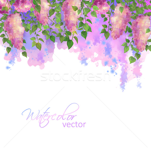 Vector Watercolor Spring Stock photo © kostins